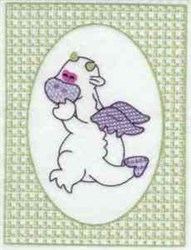 Lacy Dragon Frame embroidery design