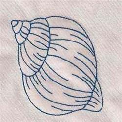 Sea Neighbor Shell embroidery design