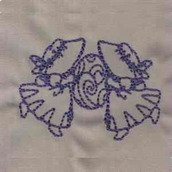 Bluework Easter Bonnet embroidery design