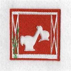 Horse Puzzle Barn embroidery design