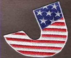 FSL Patriotic Letter J embroidery design
