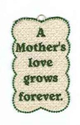 FSL Mother Bookmark embroidery design