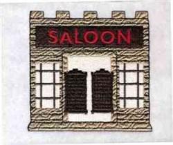Wild West Saloon embroidery design