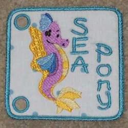 Sea Pony Book embroidery design