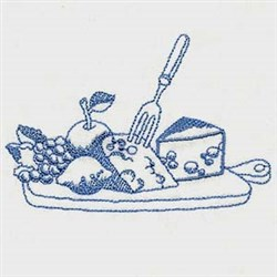 Vintage Food Plate embroidery design