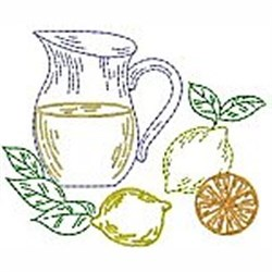 Bluework Lemonade embroidery design