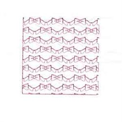 Bow Block embroidery design