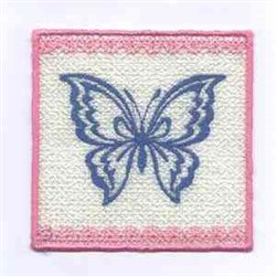 Butterfly Candlewrap embroidery design