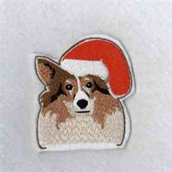 Dog Candy Cane Topper embroidery design