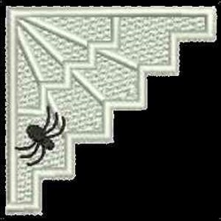 FSL Spider Web Corner embroidery design