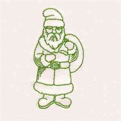 Greenwork Vintage Santa embroidery design