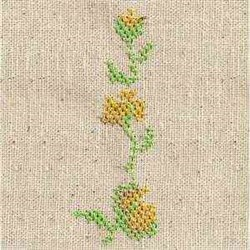 Cross Stitch Floral Border embroidery design