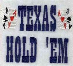 Texas Hold Em embroidery design