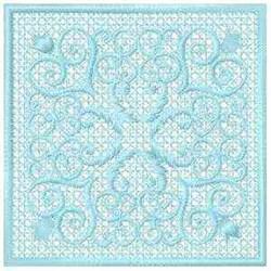 FSL Floral Quilt Block embroidery design