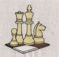 Chess Game embroidery design