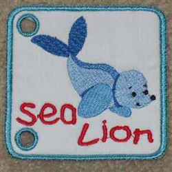 Sea Lion Page embroidery design