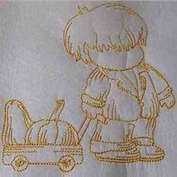 Autumn Boy embroidery design