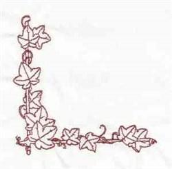 Grape Leaves Corner embroidery design
