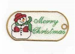 FSL Snowman Tag embroidery design