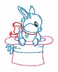 Redwork Easter Bunny embroidery design