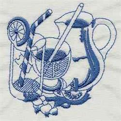 Vintage Kitchen embroidery design