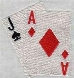 Blackjack embroidery design