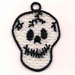 FSL Skull Ornament embroidery design