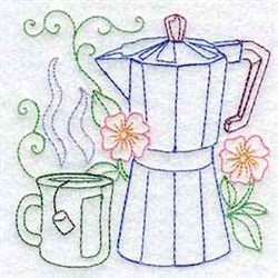 Teapot Outline embroidery design