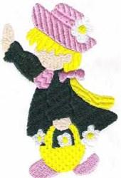 Sunbonnet embroidery design