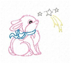 Easter Bunny Outline embroidery design
