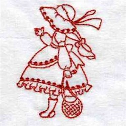 Redwork Sunbonnet embroidery design