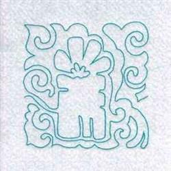 Line Art Christmas Block embroidery design