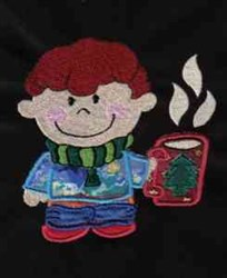 Winter Boy embroidery design