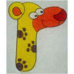 Animal Alphabet R embroidery design