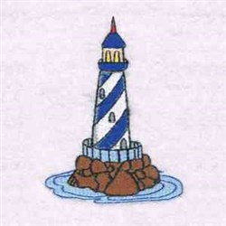 Lighthouse embroidery design
