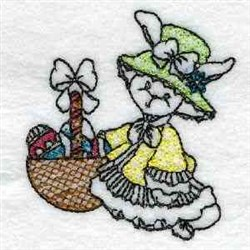 Line Art Easter Bunny embroidery design