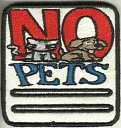 No Pets embroidery design