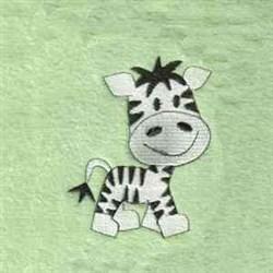 Jungle Zebra embroidery design