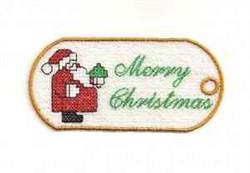 FSL Santa Tag embroidery design
