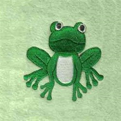 Jungle Frog embroidery design
