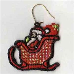 Mylar Holiday Earring embroidery design