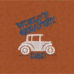 Worlds Greatest Dad embroidery design