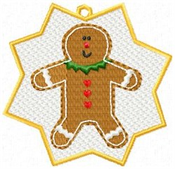 FSL Gingerbread Man Ornament embroidery design