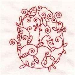 Redwork Easter Egg embroidery design