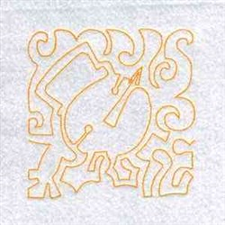 Line Art Christmas Block embroidery design