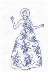 Bluework Fashion Woman embroidery design