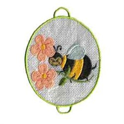 Frog Pond Bee embroidery design