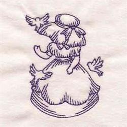 Bluework Vintage Sunbonnet embroidery design