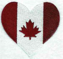 Canada Heart embroidery design