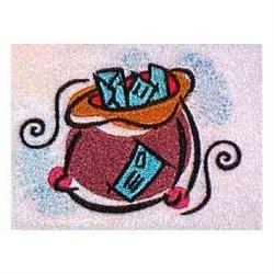 Santa Mail embroidery design